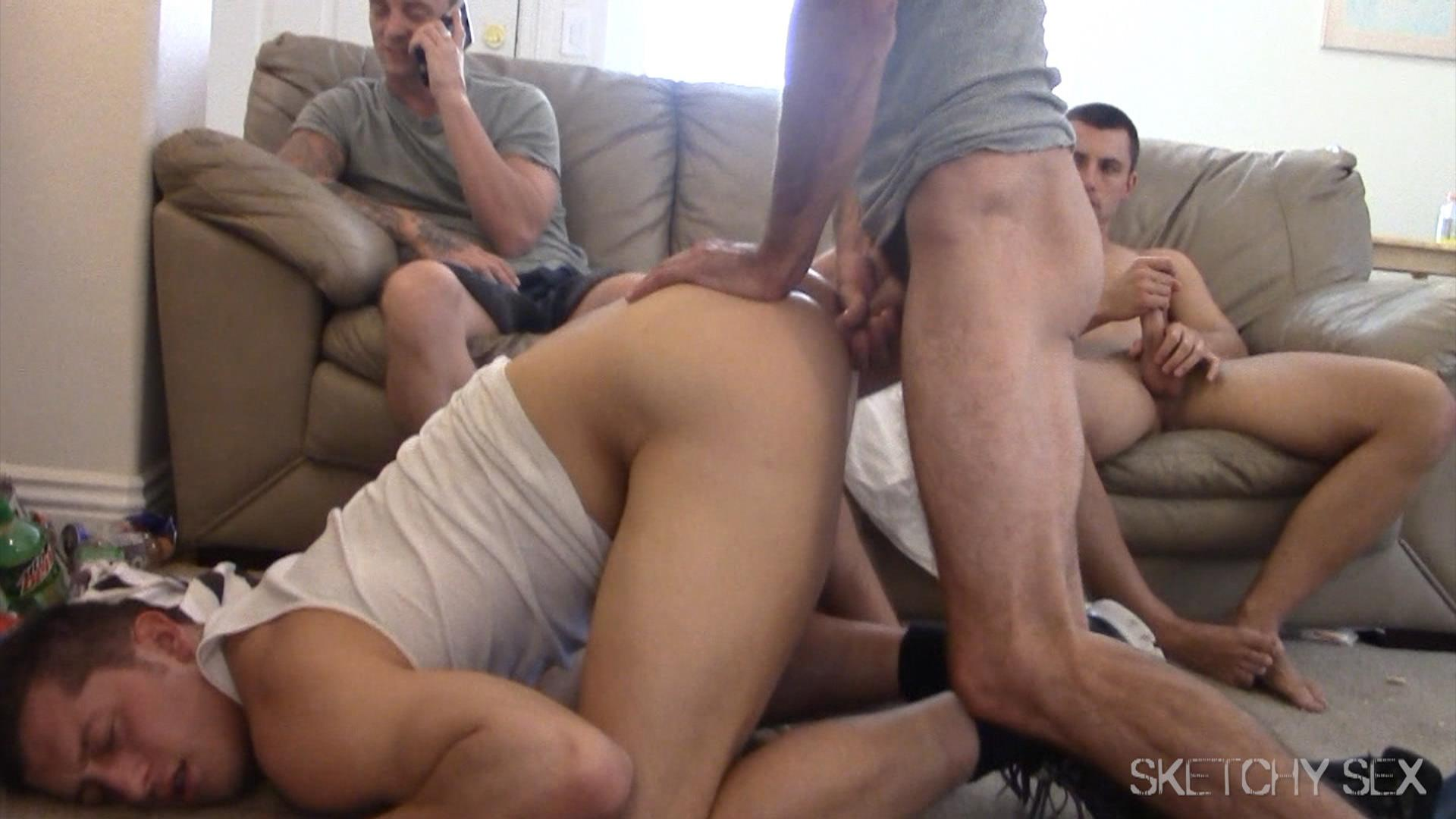 cut straight jock gets ass eaten and fucked