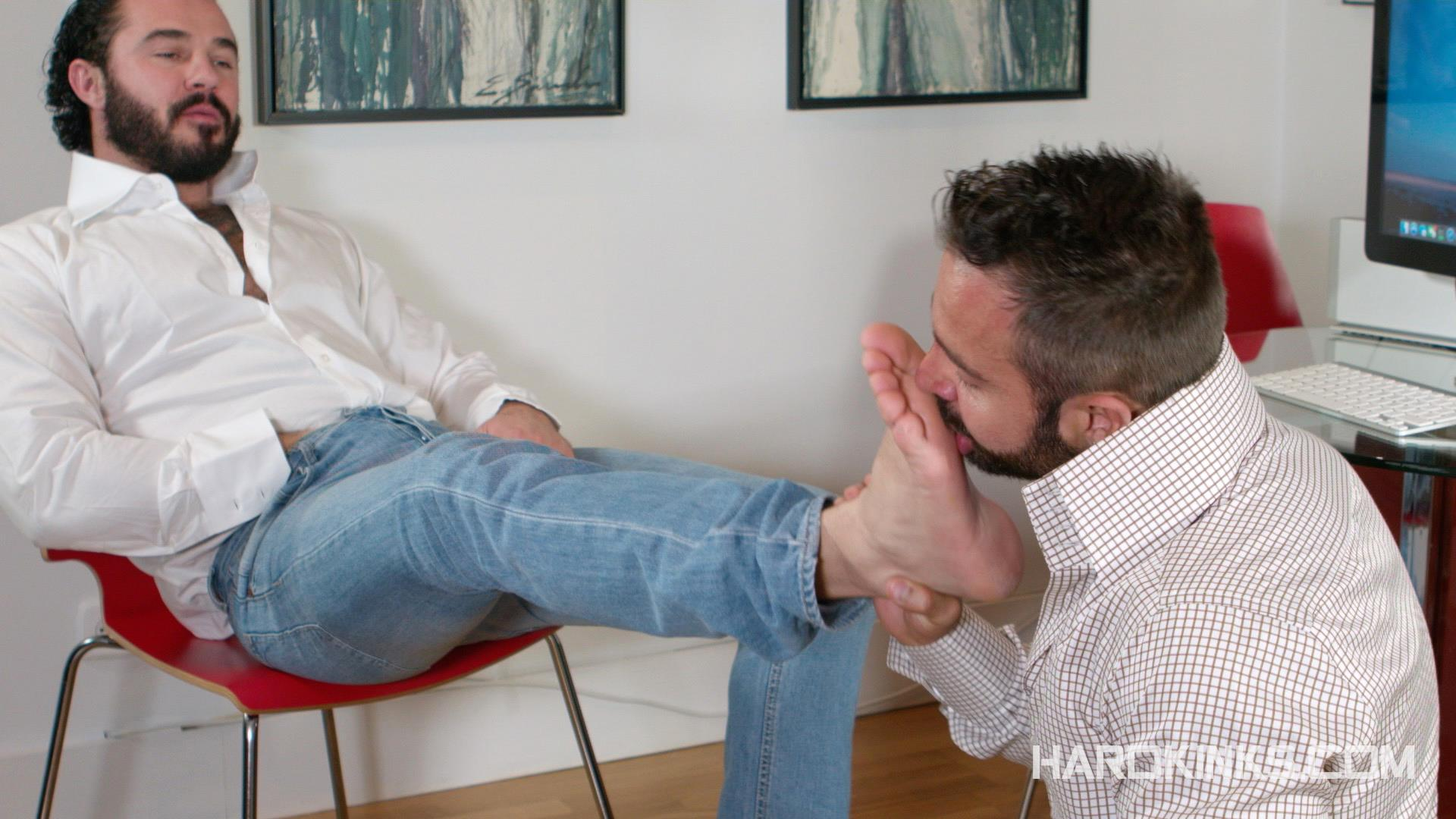 Hardkinks Jessy Ares and Martin Mazza Hairy Alpha Male Amateur Gay Porn 04 Hairy Muscle Alpha Male Dominates His Coworker