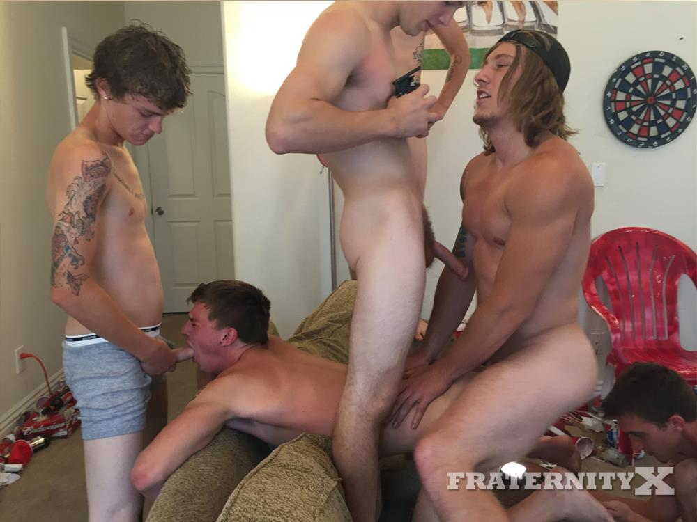 Frat boys having gay sex