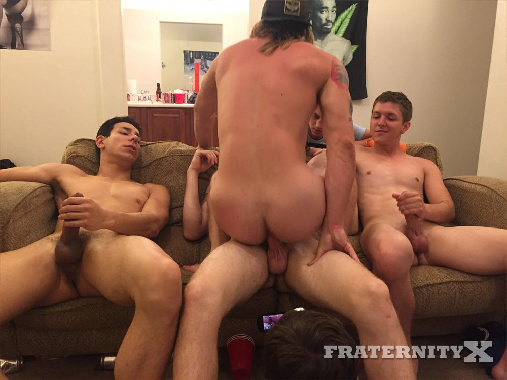 Three males barebacking