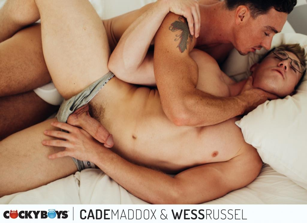 Cockyboys-Wess-Russel-and-Cade-Maddox-Thick-Cock-Muscle-Boys-Fucking-02 Cockyboys: Wess Russel Takes Cade Maddox's Thick Cock