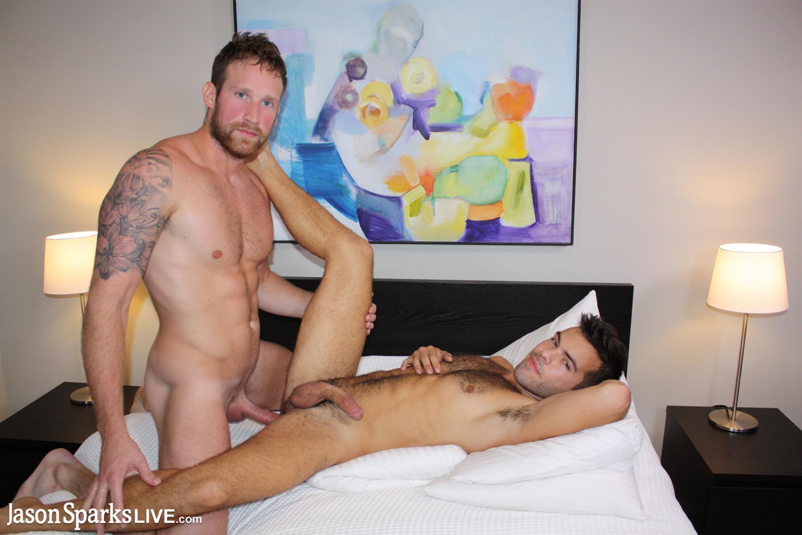 Jason-Sparks-Live-Logan-Carter-and-Riley-Ross-Bareback-Hotel-Sex-Video-15 Amateur Barebacking Tour Stops In Atlanta For Some Big Dick