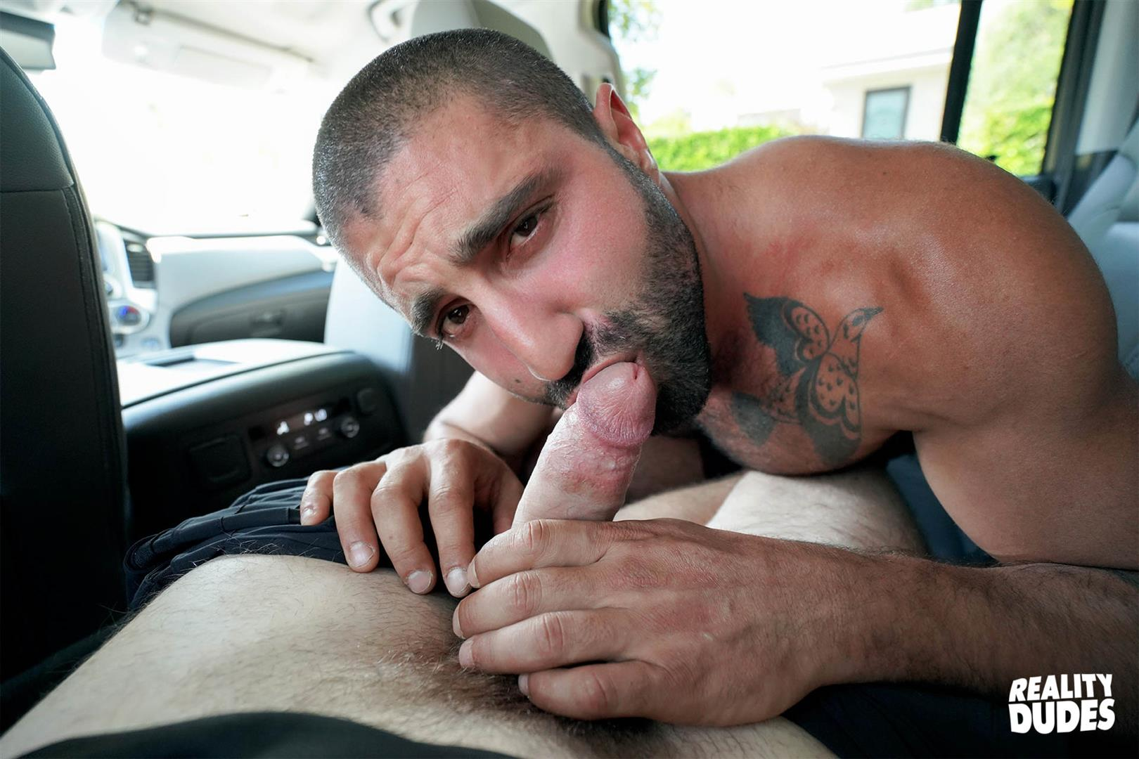 Tattooed Straight Hunk Paid To Tug On His Cock