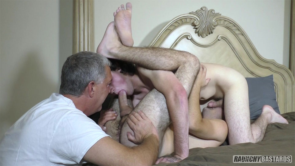 Raunchy-Bastards-Jack-Lowe-and-Mason-Ridge-18-year-Olds-getting-barebacked-by-daddy-05 Thick Dick Older Guy Perving And Barebacking Two Straight 18-Year Old Boys