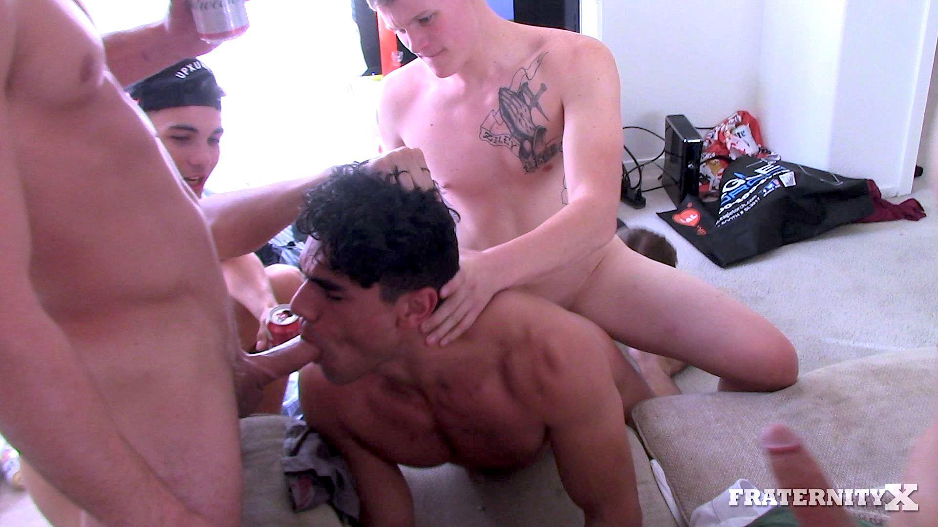 Fraternity-X-Naked-Frat-Guys-With-Big-Dicks-Fucking-Bareback-In-The-Frat-house-07 Drunk and High Frat Boy Takes Four Raw Dicks Up The Ass