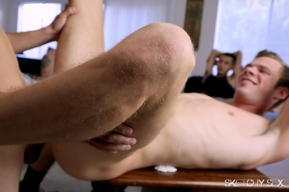 Sketchy-Sex-Slutty-White-Boy-Takes-Raw-Cock-Up-The-Ass-Video-Free-Download-24 White Boy Gets Bred By Every Cock In The Neighborhood At The Sketchy Sex Condo