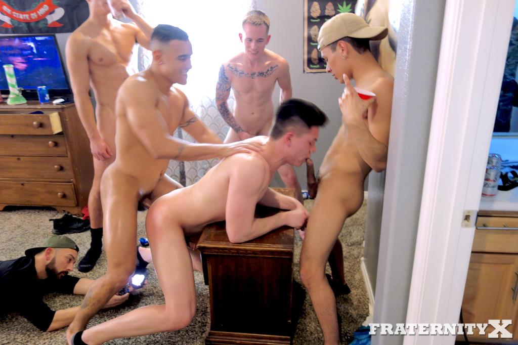 Fraternity-X-Naked-Frat-Guys-Fucking-Bareback-23 Drunk and High Frat Boys Gang Bang Two Of Their Frat Brothers