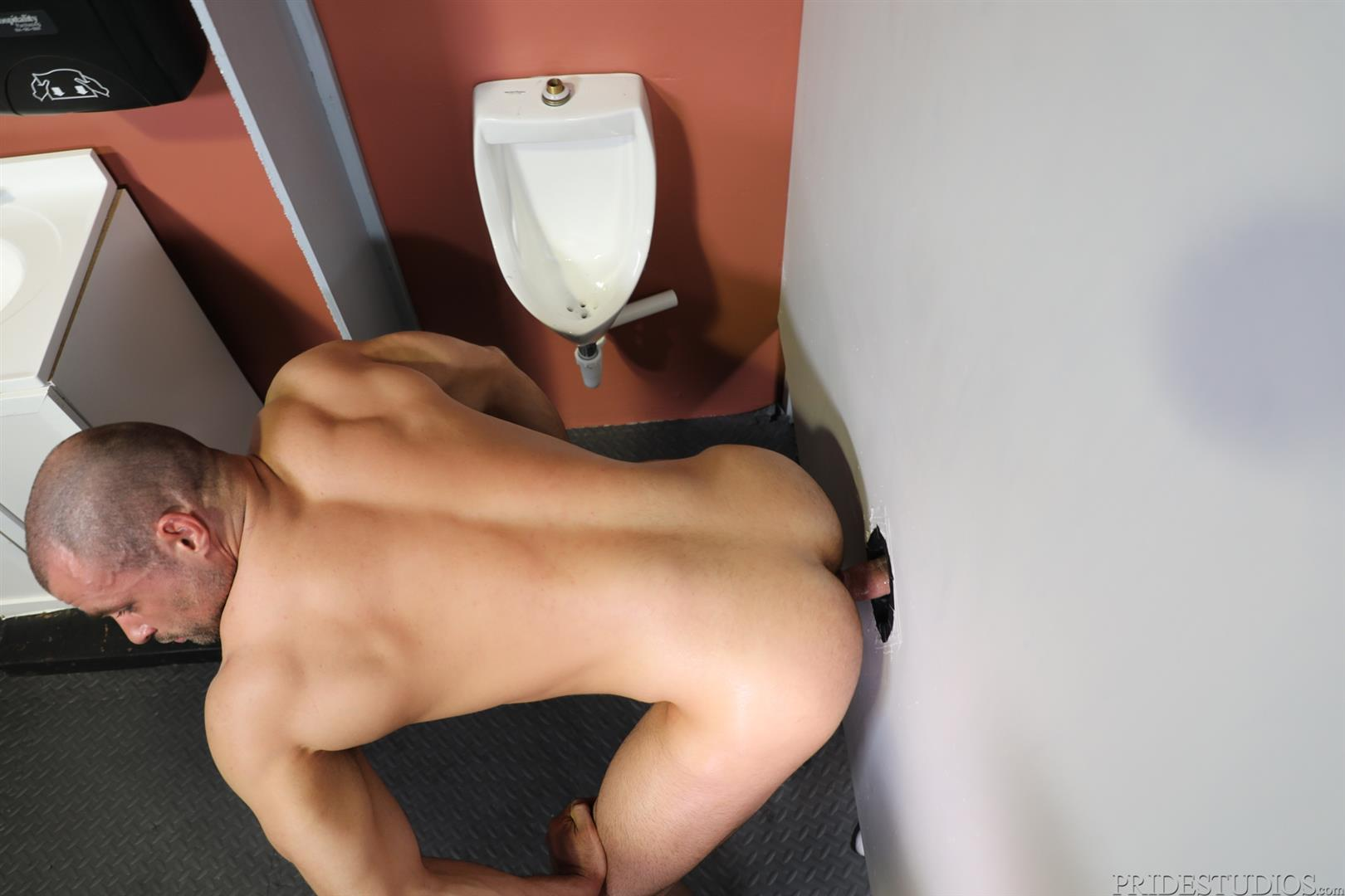 Men-Over-30-Ricky-Larkin-and-Jaxx-Thanatos-Sucking-and-Fucking-At-A-Glory-Hole-10 Hairy Muscle Hunk Jaxx Thanatos Sucks Cock And Gets His Ass Fucked Through A Glory Hole